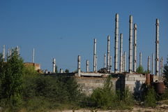 Lost city. Chernobyl area. Royalty Free Stock Images
