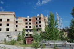 Lost city. Chernobyl area. Royalty Free Stock Photos