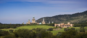 Lost City Golf Course, Sun City - Panoramic. The Lost City Golf Course is an 18-hole desert-style golf course with spectacular views across the bushveld. Unique stock images