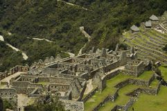 Lost city Machu-Picchu in Peru Royalty Free Stock Photography