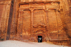 The lost city of Petra, Jordan Royalty Free Stock Photo