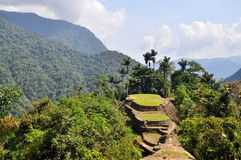 The Lost City. Ruins of the Lost City, pre-colombian indigenous site in South America stock image