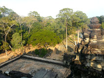 Lost city. The temples in the jungles of Angkor Cambodia Royalty Free Stock Photo