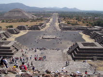 The lost city Teotihuacan. Royalty Free Stock Images