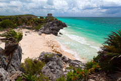 Lost city of Tulum Royalty Free Stock Photo