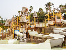 The Lost City water attraction in the Siam waterpark. Tenerife, Canary Islands - January 13, 2015: 'The Lost City' water attraction in the Siam waterpark. The stock image