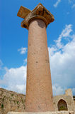 Lost column, Methoni castle, greece Stock Photos