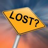 Lost concept. Stock Photo