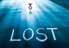Lost concept Royalty Free Stock Photo