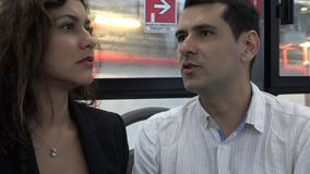 Lost And Confused Bus Passengers stock video