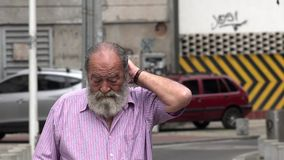 Lost And Confused Old Man stock footage