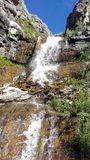 Upper Lost Creek Falls. Spilling between the rocks and down the canyon Royalty Free Stock Photos