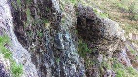 Lost Creek Falls Springs. Cascading down the rocks. Lost Creek Falls Trail, Utah, USA stock video footage