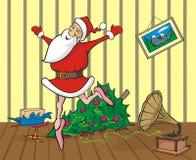 Lost in dancing santa in the room Stock Images