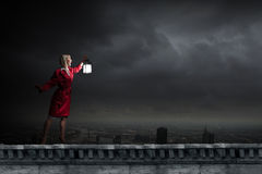Lost in darkness Royalty Free Stock Photography