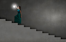 Lost in darkness Stock Images