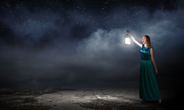 Lost in darkness Stock Photography