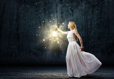 Lost in darkness Royalty Free Stock Photo