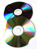Lost data. Broken cds stock photo