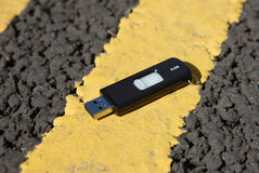 Lost Data Flash Drive Royalty Free Stock Photos