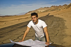 Lost in the Desert. This is a picture of a young man lost in the desert Stock Photography