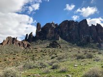 Lost Dutchman State Park. Is a 320-acre state park located near the Superstition Mountains in central Arizona, USA, and named after the Lost Dutchman`s Gold royalty free stock photography