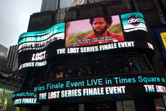 Lost event. The lost series finale event at new york times square Stock Photos