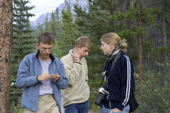 Lost family in the woods Royalty Free Stock Photography
