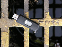 Lost Flash Memory Stick Royalty Free Stock Image