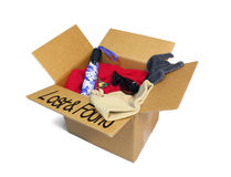 Lost and Found Box Stock Photo
