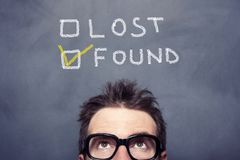 Lost Found Concept Stock Photo
