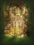 Lost Garden Door Royalty Free Stock Images