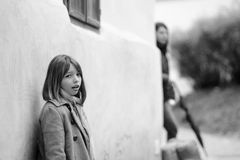 Lost girl in city Royalty Free Stock Images