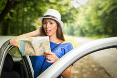 Lost Girl On Travel Stock Photos
