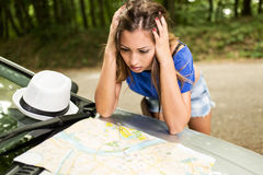 Lost Girl On Travel Stock Images
