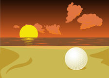 Lost Golf Ball Stock Photos