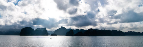 Lost in the Halong Bay Stock Photo