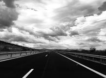 Lost Highway stock image