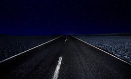 Lost Highway with Stars Stock Photo