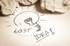 Lost idea concepts Stock Image