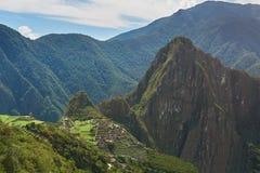Lost inca town Machu Picchu Stock Photos
