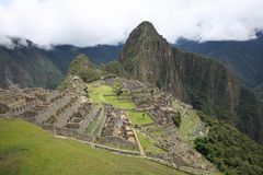 The lost Incan City of Machu Picchu near Cusco. Peru royalty free stock photo