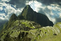 Lost incas city Machu-Picchu Stock Photos