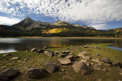 Lost Lake Autum. Autumn at Lost Lake near Kebler Pass in Colorado Royalty Free Stock Photography