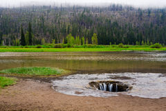 Lost Lake Lava Tube Drain in Central Oregon Royalty Free Stock Photography