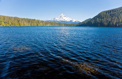 Lost Lake and Mount Hood. Scenic view of Lost lake with snow capped Mount Hood in background, Oregon, U.S.A Stock Photo