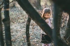 Lost Little Girl stock photo