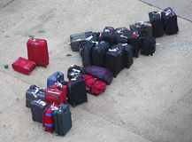 Lost luggage suitcases. Awaiting collection Royalty Free Stock Images