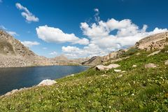 Lost Man Lake is located in White River National Forest in Central Colorado. stock photo