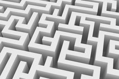 Lost in a maze. Abstract grey maze seen from above Royalty Free Stock Photos